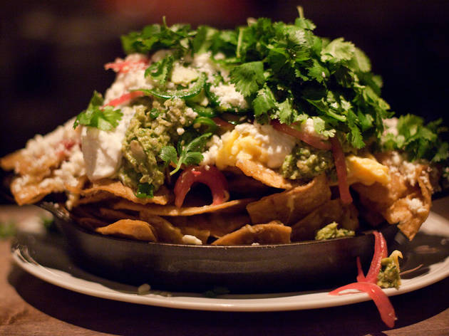 Chilaquiles after midnight at Au Cheval.