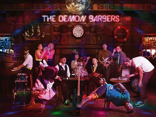 Promo image of folk group The Demon Barbers