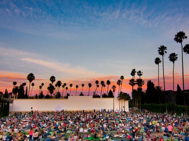 Watch an outdoor movie screening