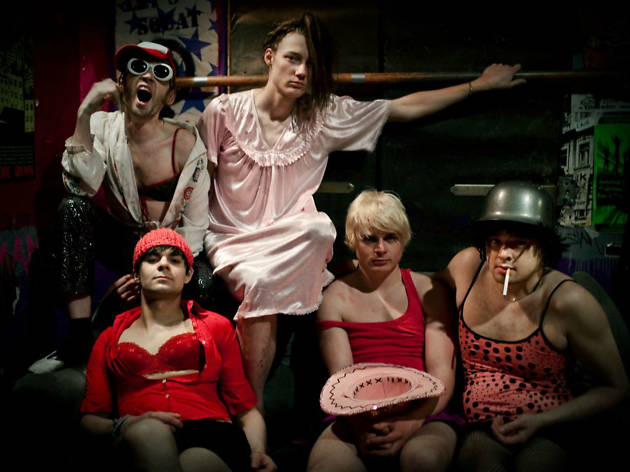 Group photo of Berlin band The Feminists