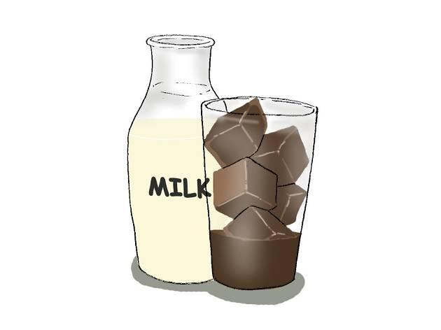 Reverse iced latte