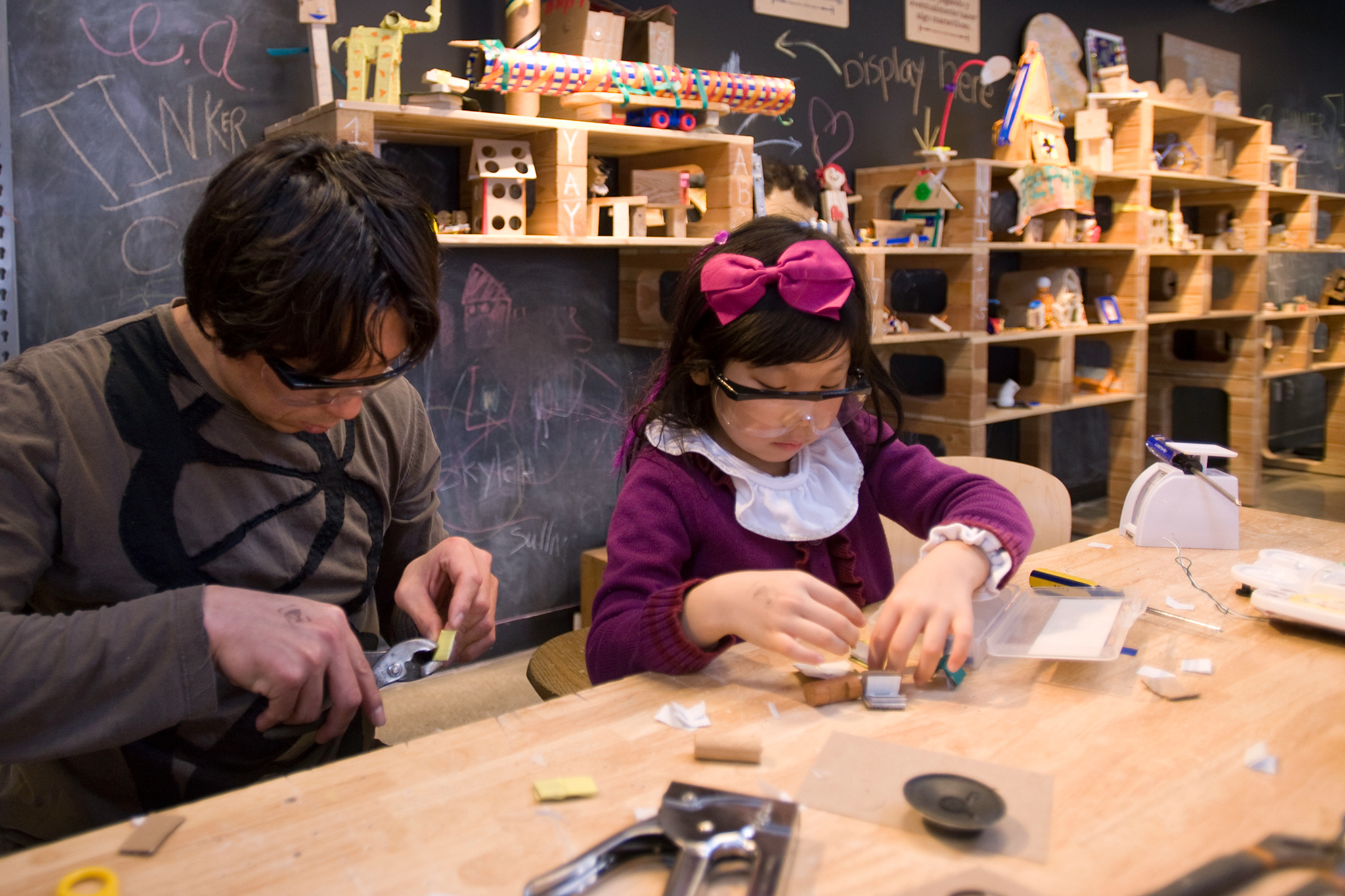 The Tinkering Lab at Chicago Children's Museum