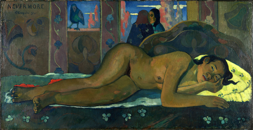 'Nevermore', 1897, by Paul Gauguin
