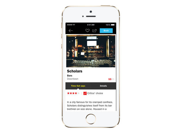 Time Out Boston app for iPhone