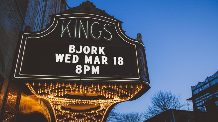 Björk's first night at Brooklyn's dazzling Kings Theatre