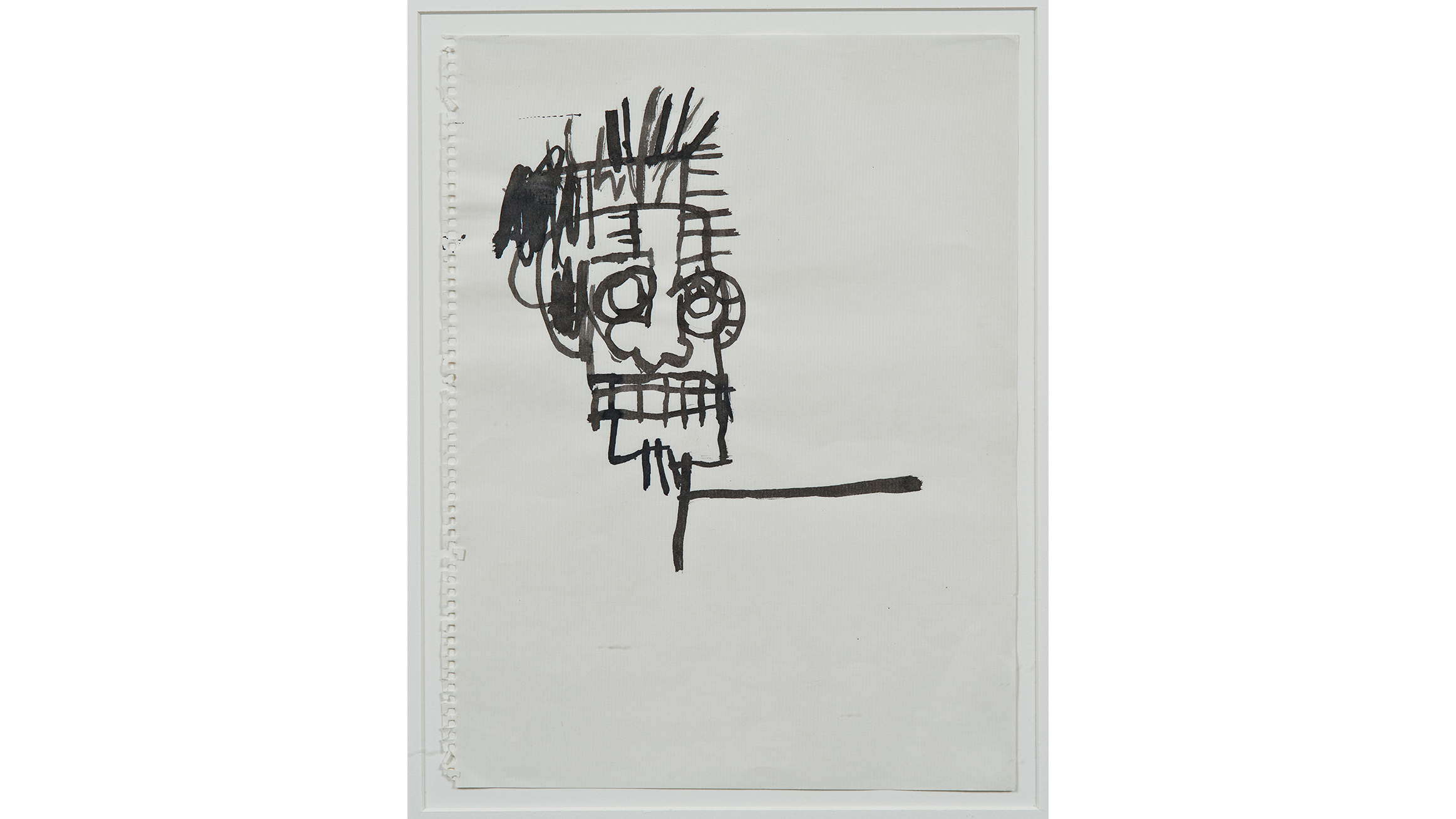 Jean-Michel Basquiat (American, 1960–1988). Untitled (Ink drawing), 1981. Sumi ink on paper, 12 x 9 in. (30.5 x 22.9 cm).