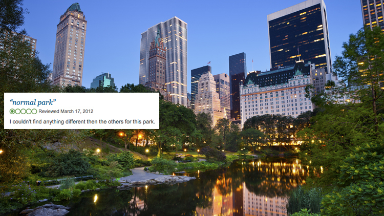 Nine ridiculous reviews of iconic New York landmarks