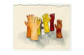 (Valéria Nibiru, 'Forest of gloves', 2010 / Courtesy Galerie Iragui, Moscou)