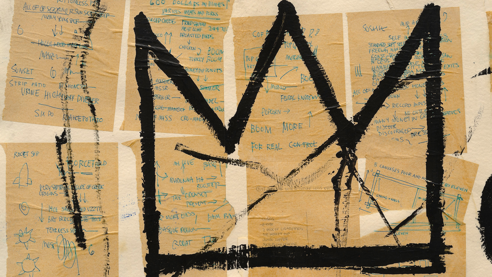 Take a sneak peek at Basquiat's notebooks