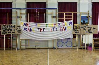 (Notes on Protesting, rehearsal at Marion Richardson School, London, April 2014. © Peter Liversidge)