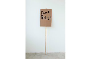 (Don't Tell Notes on Protesting (2014) Peter Liversidge with Marion Richardson School, London (Classes 3H and 3B). © Peter Liversidge)