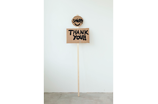 (Smile, Thank You Notes on Protesting (2014) Peter Liversidge with Marion Richardson School, London (Classes 3H and 3B). © Peter Liversidge)