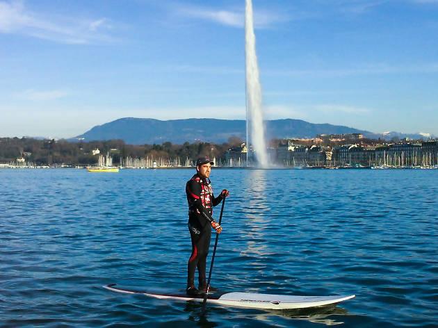 geneva, paddleboard