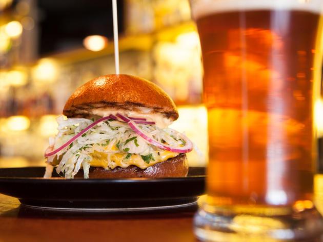 Diner burger at The Brixton.