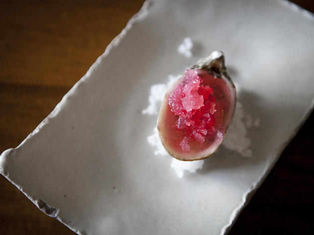 Shigoku oysters with radish at Alma