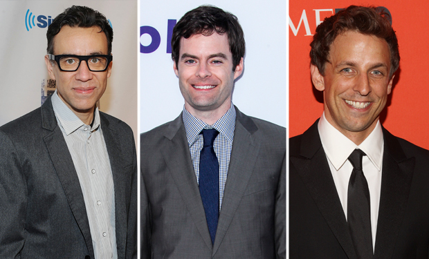 Fred Armisen and Bill Hader show taping