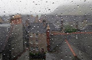 rainy window edinburgh