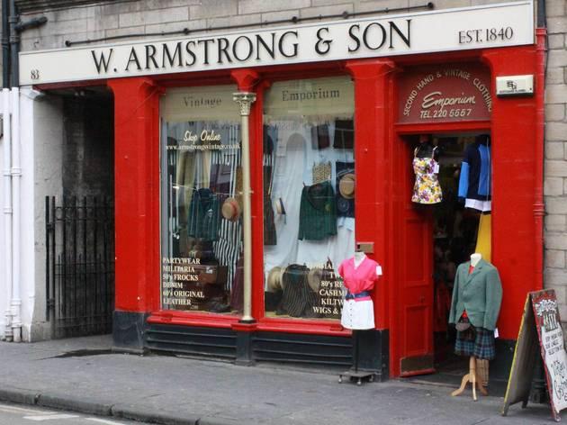(Armstrong's vintage clothes emporium)