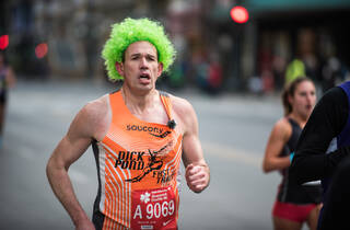 Runners clad in green trotted through Grant Park during the annual Shamrock Shuffle, March 29, 2015.