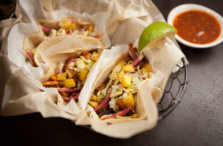 Scarf down Mexican food like these Xoco tacos on Cinco De Mayo.