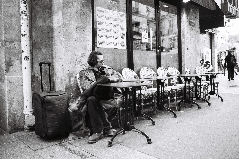 Beaubourg noir et blanc Centre Pompidou