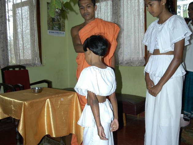 Anointing oil is a new year ritual in Sri Lanka