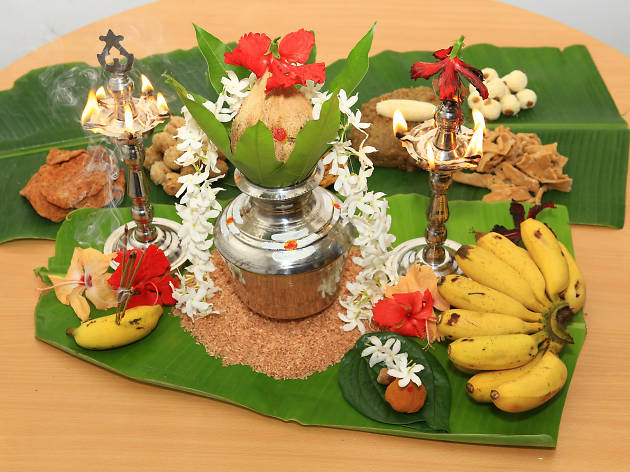 Hindu household New Year rituals