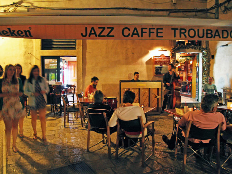 Catch outdoor jazz at the Troubadour