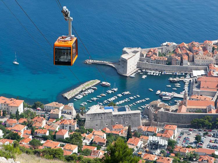 Take the cablecar to Srđ