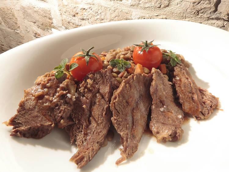 Sample gourmet Croatian food