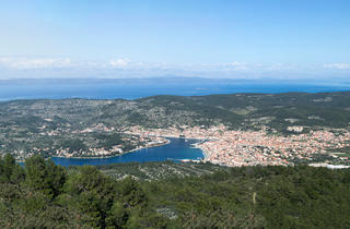 Vela Luka panorama from Hum Hill