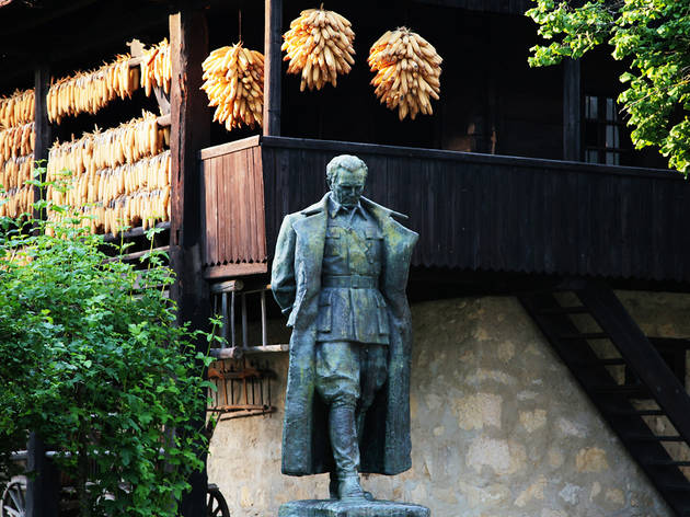 Statue of Marshall Tito in his birthplace of Kumrovec, Zagorje