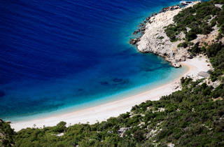 Beach under Lubenice, Cres