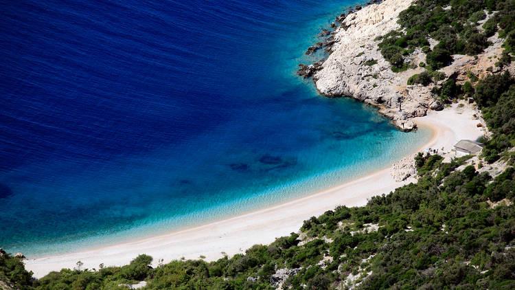Beach under Lubenice, Cres