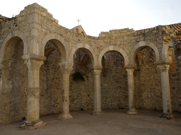 Remains of the Romanesque basilica of St. John the Evangelist, Rab town