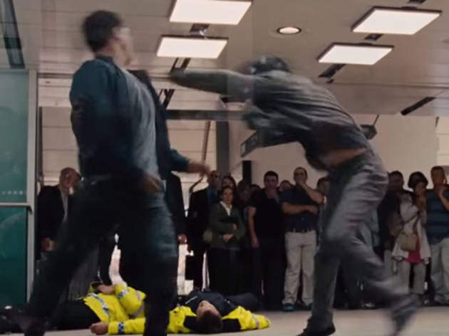 The tube fight in 'Fast & Furious 6' (2013)
