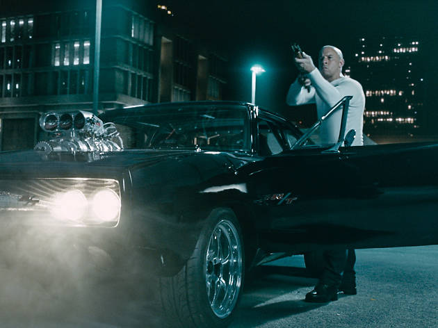 The wrench fight in 'Fast & Furious 7' (2015)