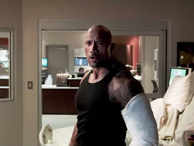 The Rock's hospital visit in 'Fast & Furious 7' (2015)
