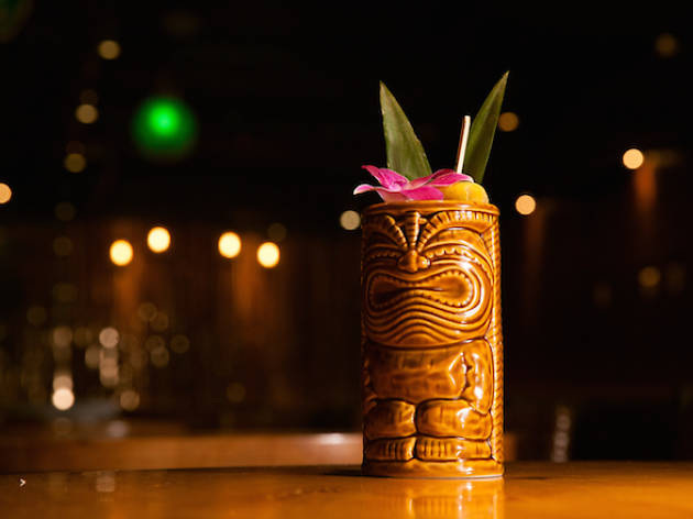 Painkiller 347D is one of the new drinks at Three Dots and a Dash.