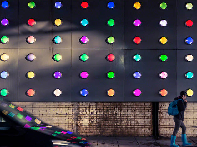 Southwark Bridge light display