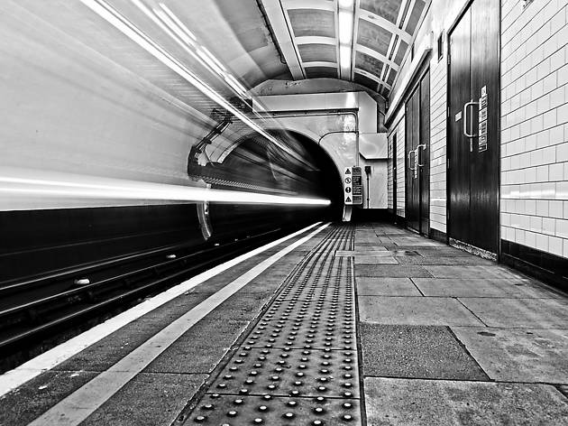 Undergound platform, London