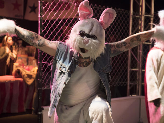 See photos of the evil monster rabbits at Full Bunny Contact (2015)