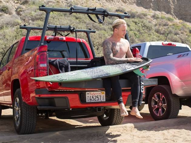 Pro surfer Chippa Wilson gets ready to ride