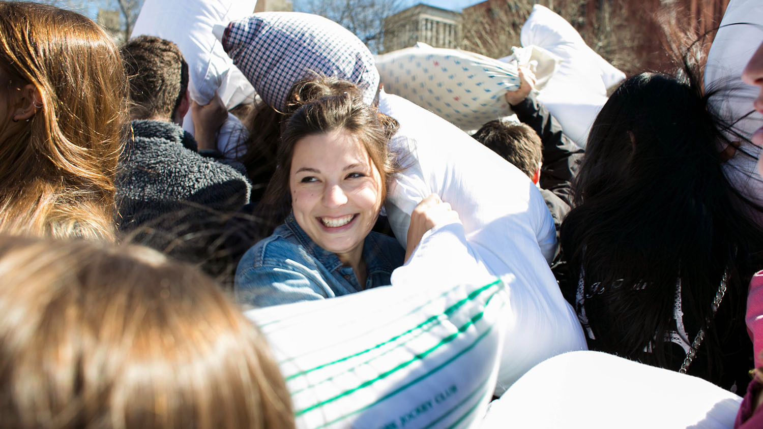A giant pillow fight will take over Pershing Square this weekend