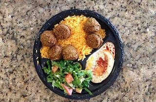 Falafel plate at Joe's Falafel