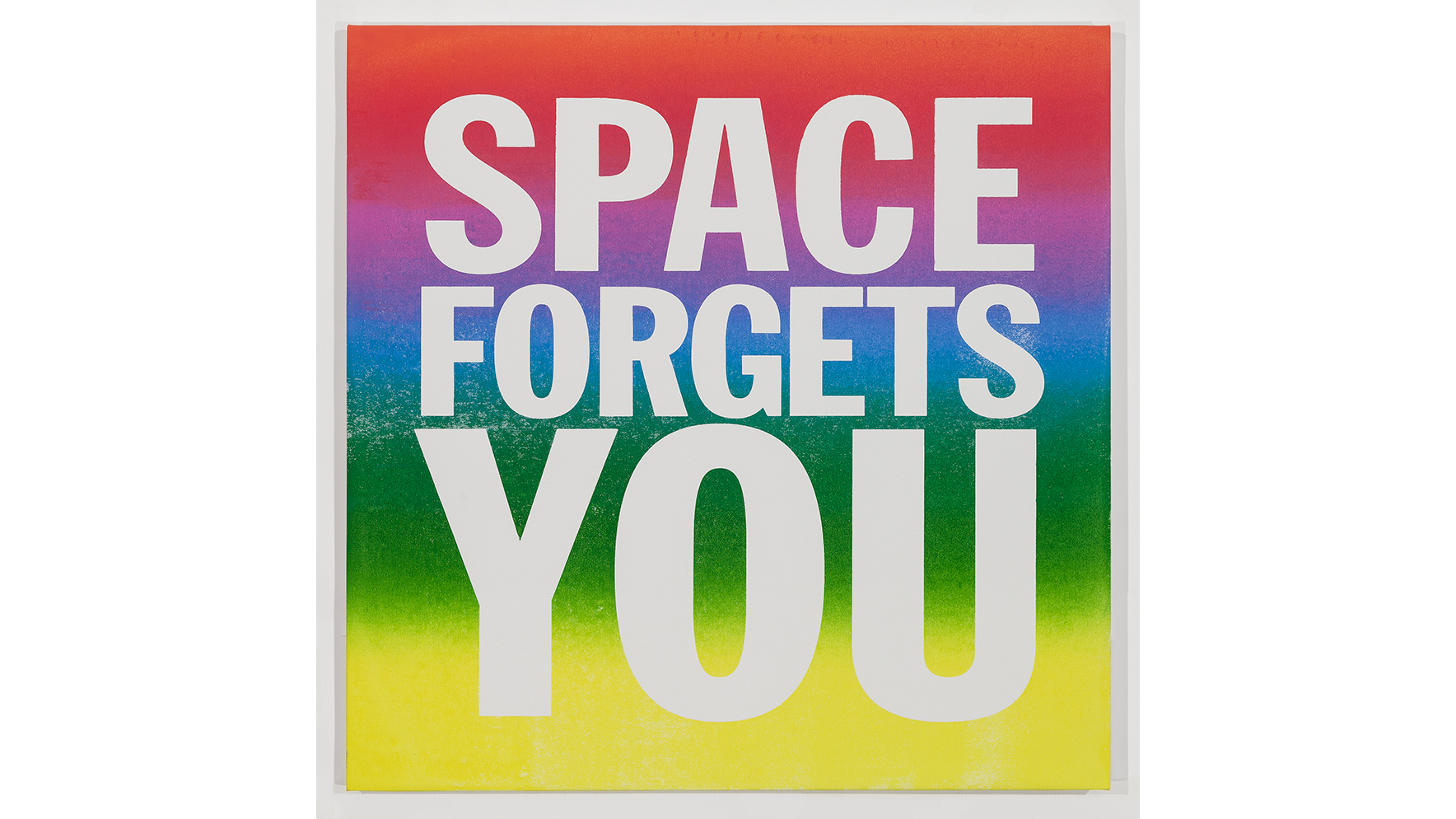 "John Giorno, ""Space Forgets You"""