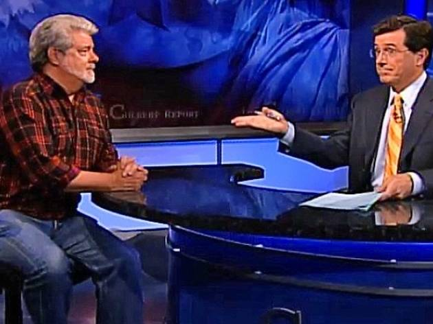 George Lucas with Stephen Colbert