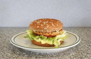Veggie burger at Astro Burger