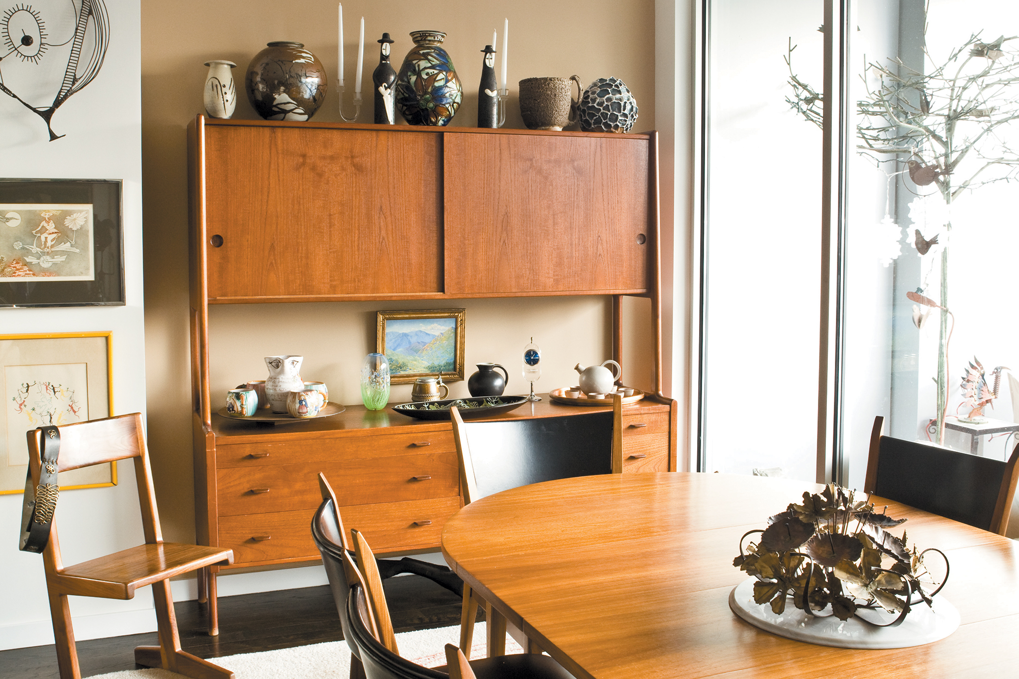 This Danish modern hutch; sourced from an estate sale in Downers Grove.