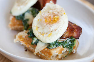The Winchester's eggs Benedict is one of the best eggs Benedict in Chicago.